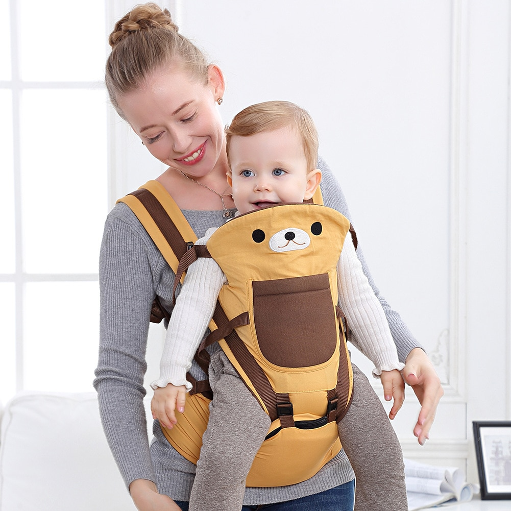 BW50BY-حقيبة ظهر للأطفال قابلة للتنفس ، حاملة أطفال مريحة لمقعد الورك ، معدات أطفال BW50BY