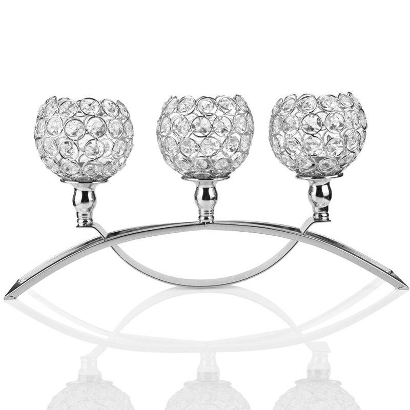 Candelero decorativo de cristal con forma de Pilar, centro de mesa de trabajo para decoración de comedor/sala de estar-La mejor boda/cumpleaños