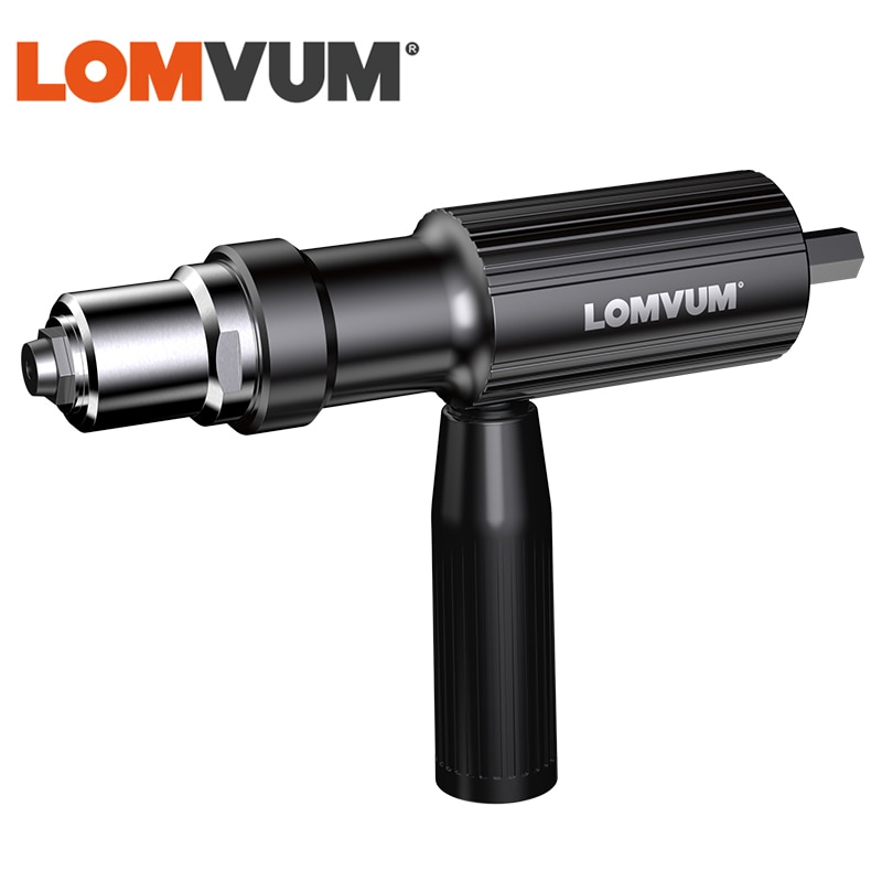 LOMVUM Electric Rivet Gun Riveting Adapter Insert Cordless Drill Aluminum Rivet Nut Riveter Insert Nail Power Tools Acessories