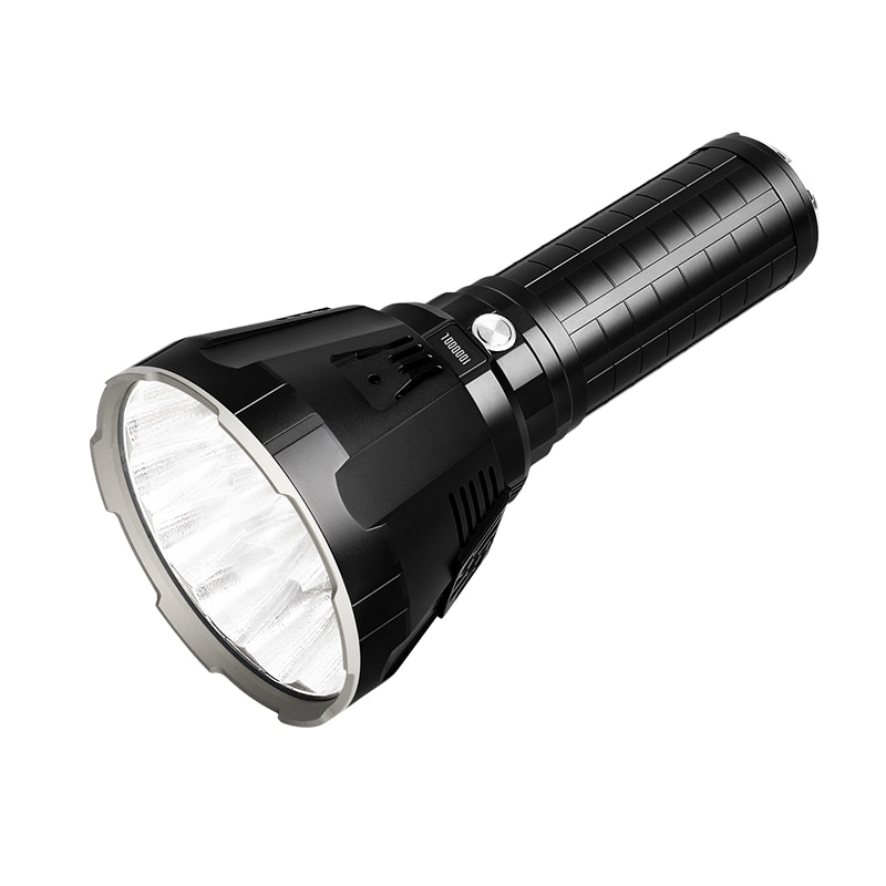 super torch search light imalent dx80 8 cree xhp70 max 32000 lumen beam distance 806 meter led flashlight for hunting IMALENT MS18 LED Flashlight CREE XHP70 100000 Lumens  High Power Flashlight with 21700 Battery Intelligent Charging for Search