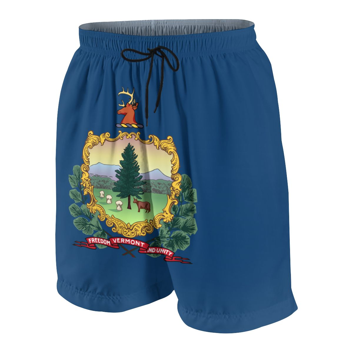 Vermont Flag Youngsters Shorts Joggers Quick-dry Cool Short Pants Casual Beach Sweatpants