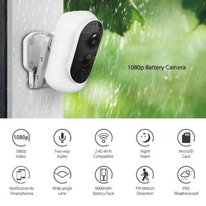 Security Camera Outdoor Wireless Home Security Camera WiFi 1080P Camera PIR Motion Detection Night Vision/Waterproof