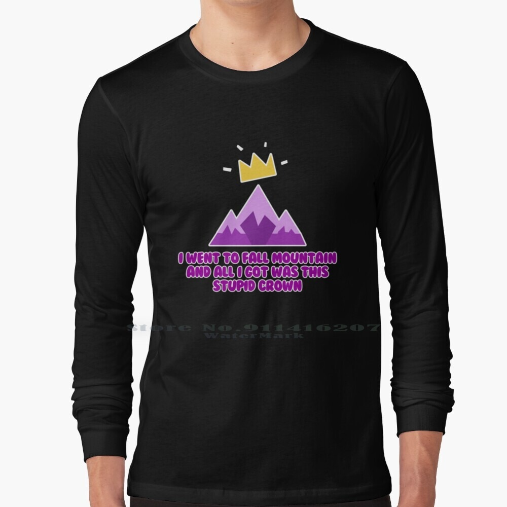 Fall Mountain Long Sleeve T Shirt Ultimate Knock Out Funny Meme Fall Mountain Winner Crown Ps4 Gaming Videogames New