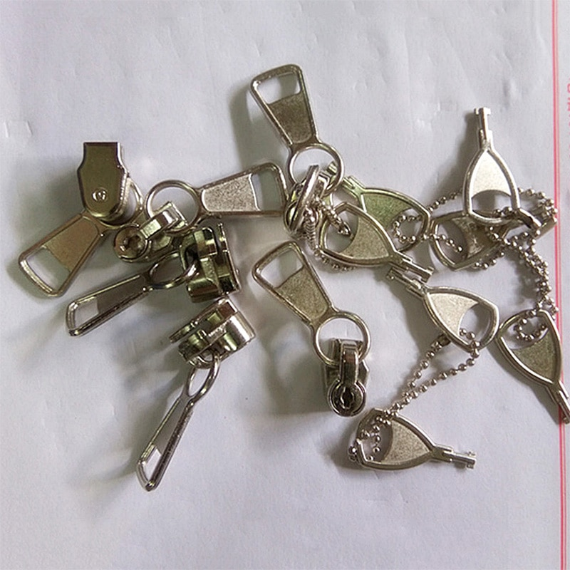 5# Nylon Coil Zipper Key Lock Slider Locking Zipper Pull Head DIY Sewing Craft Bags Clothing Repair Accessories