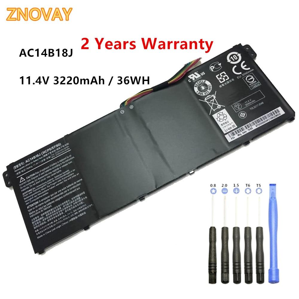Batería de ordenador portátil AC14B18J para Acer TravelMate B115-MP B115-M, Chromebook 13 CB5-311, Chromebook 13 CB5-311 11,4 V 36WH
