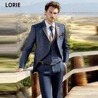 lorie homme shiny plaid vest men wedding suits groom tuxedoes slim fit two buttons prom party blazer plus size jacketpantsvest