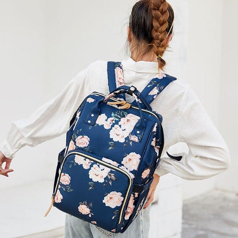 حقيبة ظهر للحفاضات حقيبة أطفال كبيرة متعددة الوظائف السفر الخلفي حزمة مقاوم للماء الأمومة حقيبة الحفاض تغيير الحقائب