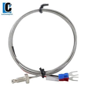 M6*1 M8*1.25 Screw E Type 1Meter 2M 3M 5M Wire Cable Connector Thermocouple Temperature Sensor for Temperature Controller