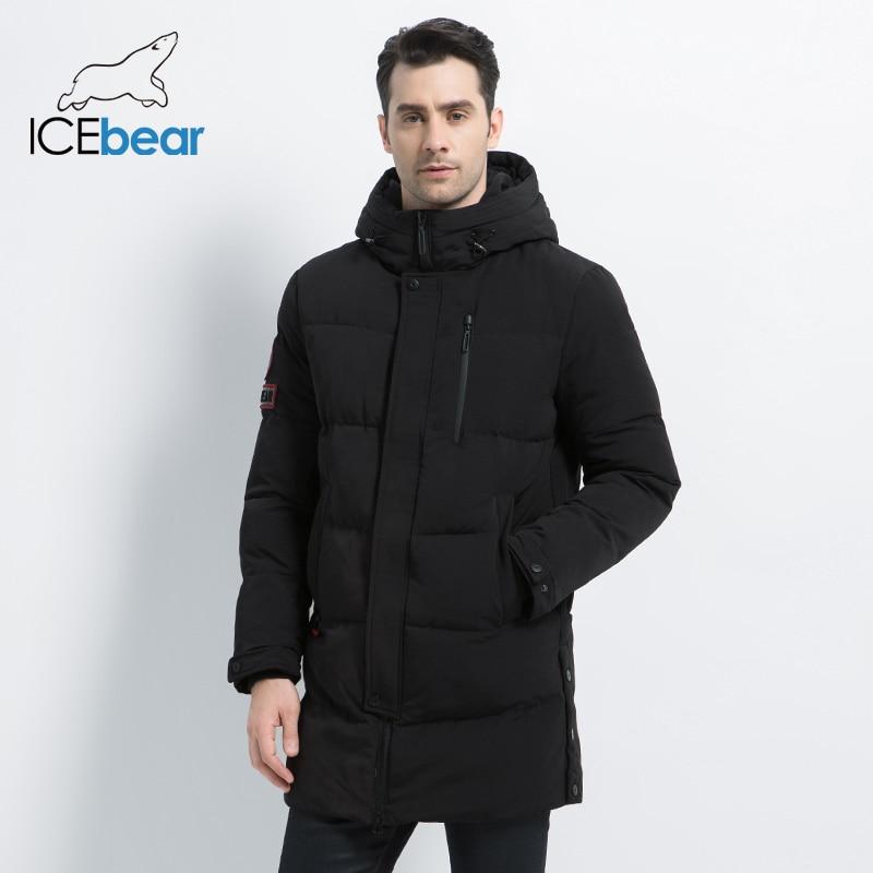ICEbear 2019 nuevo abrigo Casual de moda cálido de invierno para hombre chaqueta cálida a prueba de viento para hombre Parkas abrigo de alta calidad MWD18856I