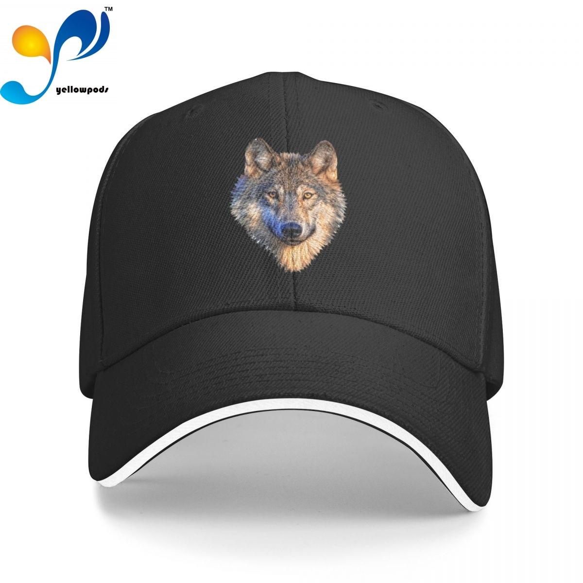 Крутая Кепка с головой волка, бейсболка для мужчин, бейсболка с клапаном, мужские шапки, кепки с логотипом