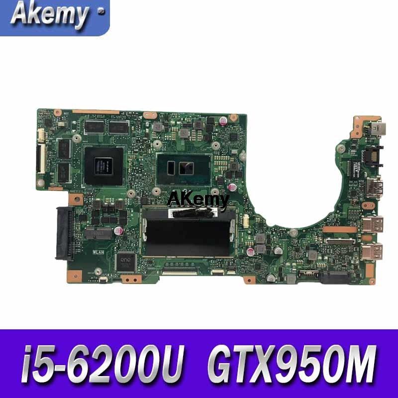 K501UX ل For Asus K501UX K501UB K501U المحمول اللوحة الرئيسية K501UX rev2.0 i5-6200U وحدة المعالجة المركزية مع GTX 950 متر بطاقة الرسومات