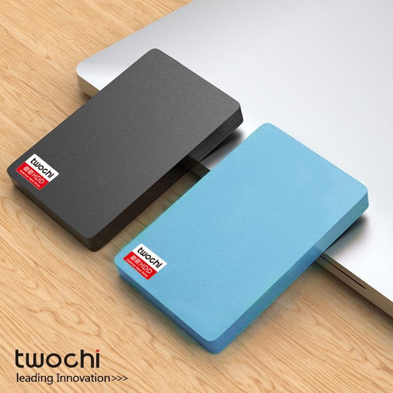 Внешний жесткий диск TWOCHI A1 2,5 дюйма, USB 120, 80 Гб/160 Гб/250 ГБ/320 Гб/500 Гб, портативный жесткий диск для хранения, Plug and Play для ПК/Mac