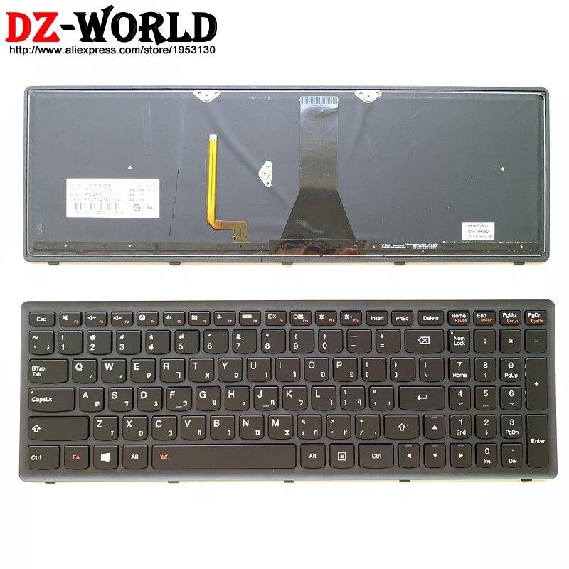 Nuevo/Origl hebreo Teclado retroiluminado para Lenovo Ideapad G500S G510s G505s S510P Flex 15 Z510 portátil Teclado 25214159