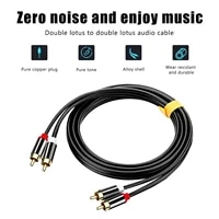 Pure Copper Hi-fi Copper Stereo 2  rca To 2  rca Male Audio Signal Cable Amplifier Video Cord Hi-end Monsters Gold-plated Rca Plug