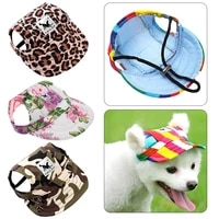 summer breathable cute pet fashion hat baseball cap windproof sunshade travel sports cap going hiking pet dog accessories