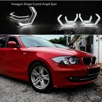 for bmw 1 series e82 e88 e87 e81 ultra bright crystal m4 iconic style 3d led angel eyes halo rings day light