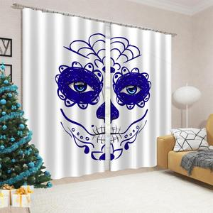 High Quality Blackout Curtain Living Room Modern Style Kitchen Door Curtains Decoration 3D Window Drapes
