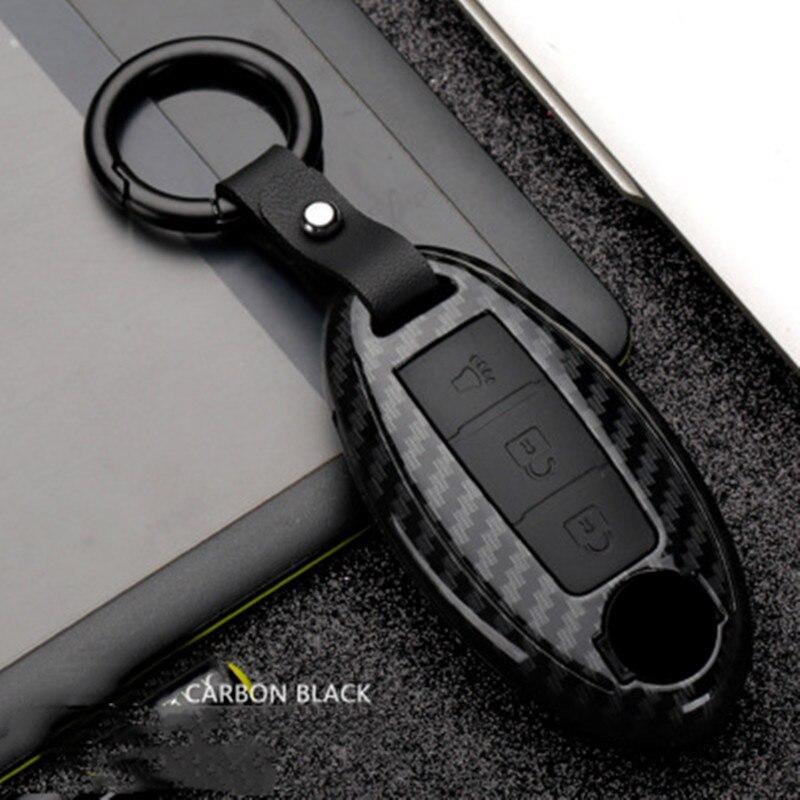Funda de fibra de carbono para llave de coche remota para Nissan 370Z Altima GT R Maxia Murano Rogue Sentra Auto KeyShell