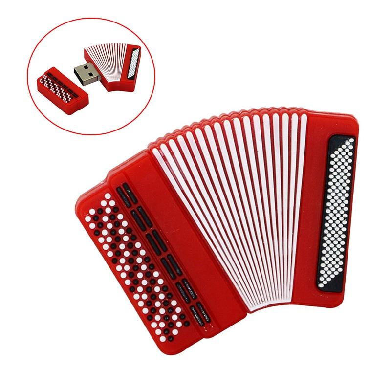 Instrumento Musical Bayan acordeón Pendrive 16 128 256 gb unidad flash usb...