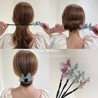 butterfly bun maker diy hair style making tools headbands women korean style fashion curler roller elegant head hair accessories