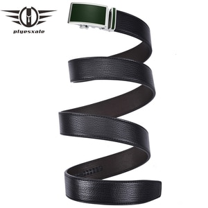 Plyesxale Designer Jeans Belt For Men Real Leather High Quality Automatic Belt Slide Buckle ceinture homme Luxury Brand B163