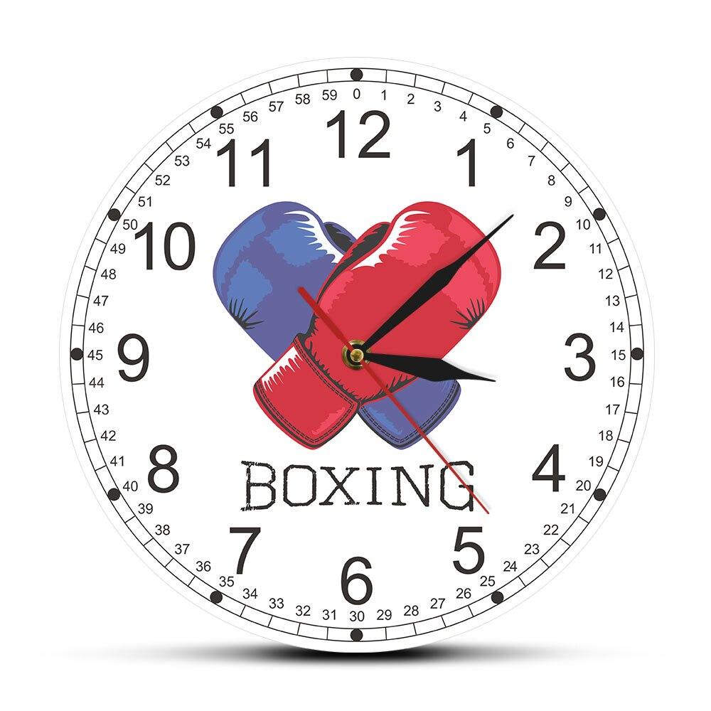 Reloj colgante De Pared, guantes De boxeo, Reloj De Pared con estampado,...