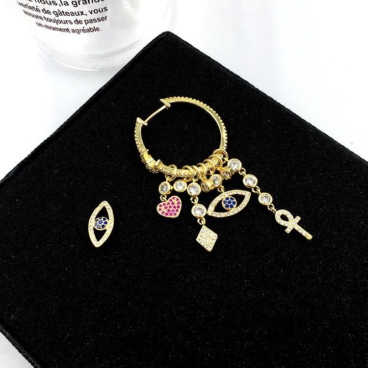 Большие дизайнерские серьги S925 с золотыми иглами, серьги с символом в форме сердца, большие Брендовые женские красивые серьги, подарок для женщин
