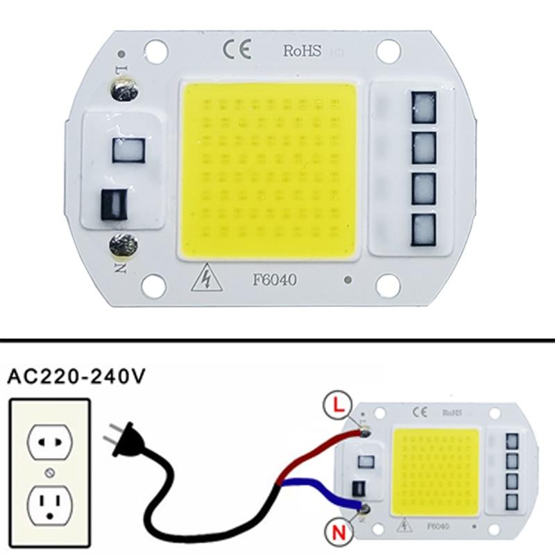 LED COB lamp Bead 10W 20W 30W 50W AC 220V 240V IP65 Smart IC No Need Driver DIY Flood light Led Bulb Spotlight Outdoor Chip Lamp