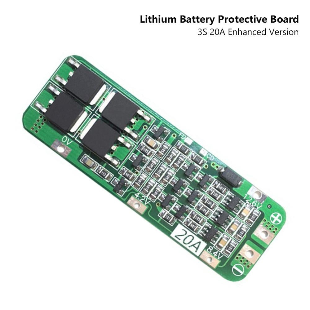 3S 20A 12.6V PCB BMS Lipo 18650 Lithium Battery Protective Board Recovery Function Enhanced Cell Charging Protecting Module o r ganiev enhanced oil recovery