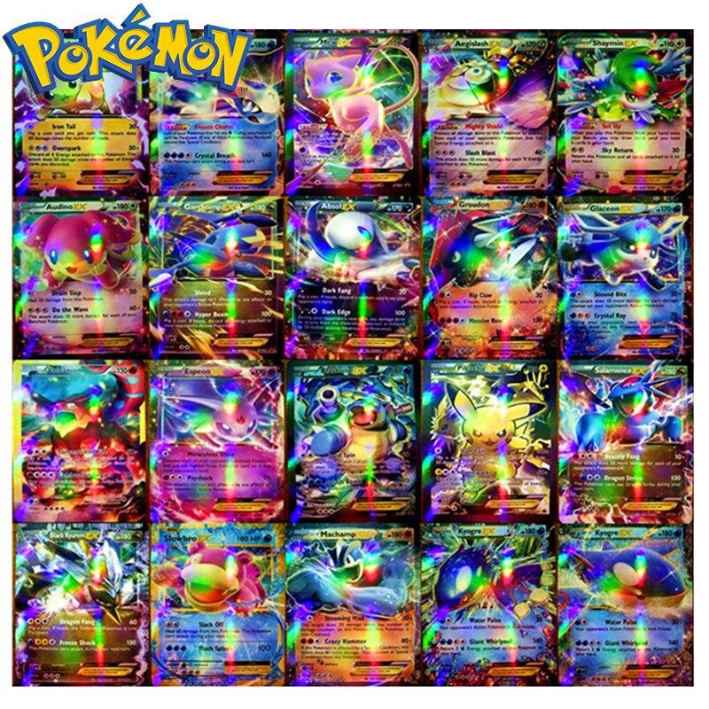 Original takara tomy pokemon cards pokecard brilhando cartões 20/60/100/200 pçs gx sem repetição jogo coleção cartões