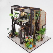 Figurine bricolage maison de café   Kits de maquette en bois, décoration de maison, cadeau danniversaire pour filles