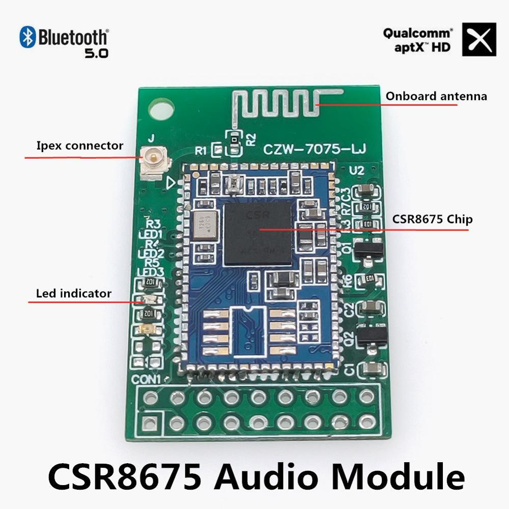 Aptx Hd Csr8675 I2S بلوتوث 5.0 وحدة المجلس لترقية ويليانغ الصوت Es9038 Ak4497 Dac مكبر للصوت