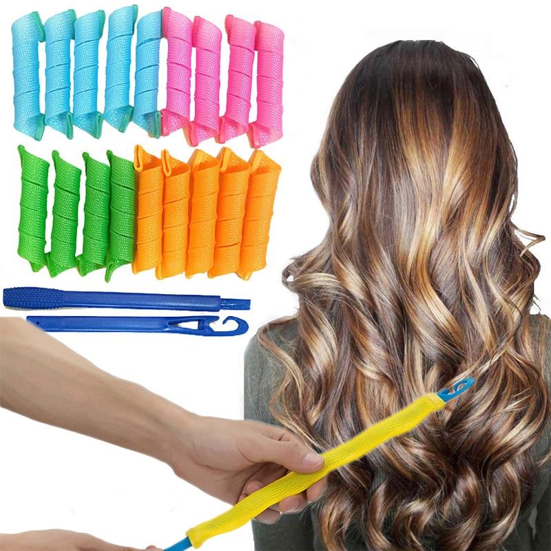 18 pcs Portable Magic Hair Curler Hair Styling Accessories Hair Curlers Non-Damaging Beauty Hair Sty