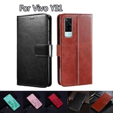 Flip Cover For Vivo Y31 Case Phone Protective Shell Funda Case For Vivo Y 31 2021 Wallet Leather Boo