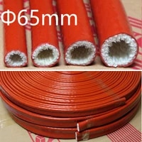 thickening fire proof tube id 65mm silicone fiberglass cable sleeve high temperature oil resistant insulated wire protect pipe