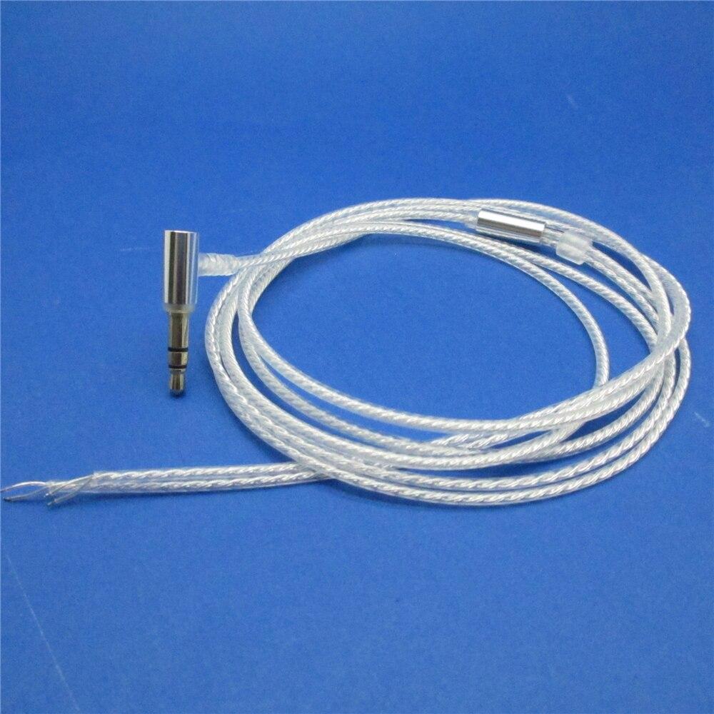 Diy cabo do fone de ouvido 24 núcleo estanho banhado a oxigênio livre cobre ofc fio 3.5mm l forma plug