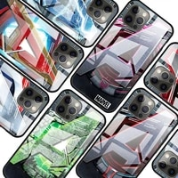 marvel logo for apple iphone 12 pro max mini 11 pro xs max x xr 6s 6 7 8 plus luxury tempered glass phone case