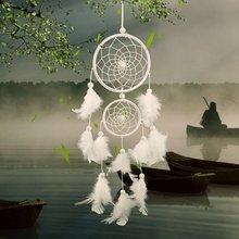 Capteur de rêves blanc suspendus ornements anniversaire mariage décoration plume