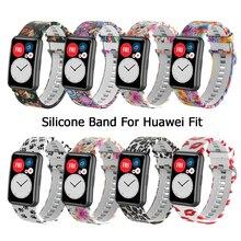 Ремешок для Huawei Watch Fit, силиконовый браслет для Huawei Fit, аксессуары для умных часов, прочный сменный Браслет