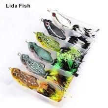 Marca de peces Lida 7cm cebo clásico Lei Rana cebo 12,95g Lu Ya cebo duro negro paso de pescado artificial cebo duro ojos 3D