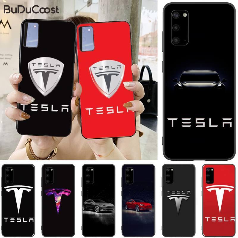 Nuevo coche súper eléctrico Tesla Logo DIY funda de teléfono para Samsung S5 6 7 8 9 10 S8 S9 S10 plus S10E lite S10-5G S20 UITRA plus