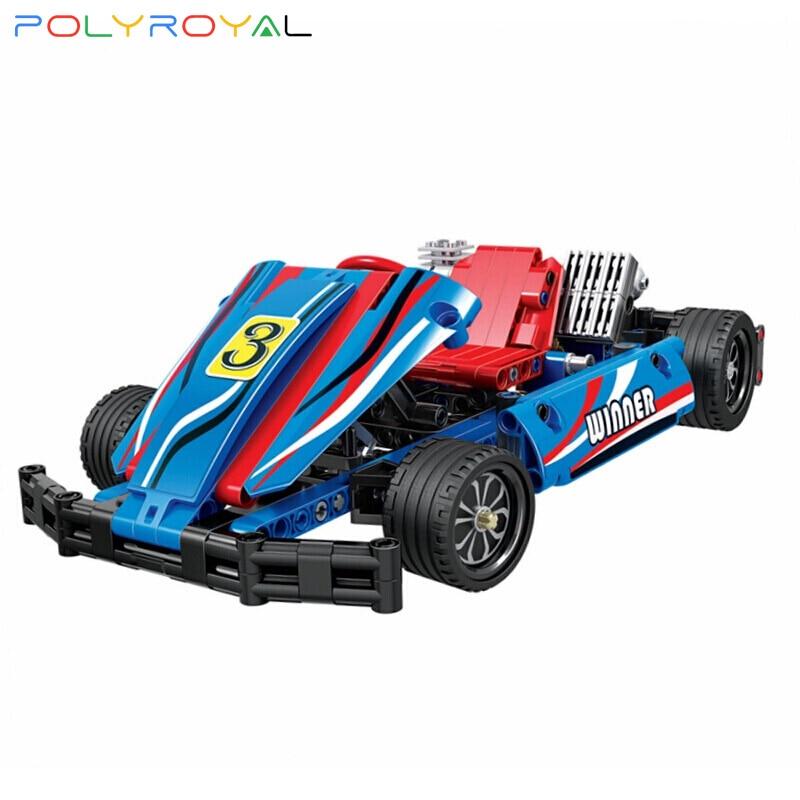 Строительные блоки Polyroyal, карта, автомобиль, 371 шт., модель MOC, развивающие кубики «сделай сам», детские игрушки, рождественские подарки на ден...