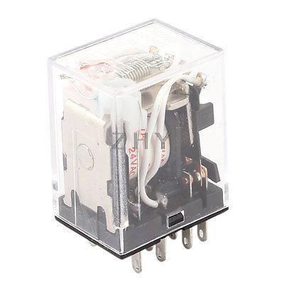 DC 24V bobina 4PDT 14-Pin lámpara LED roja relé de potencia de uso General