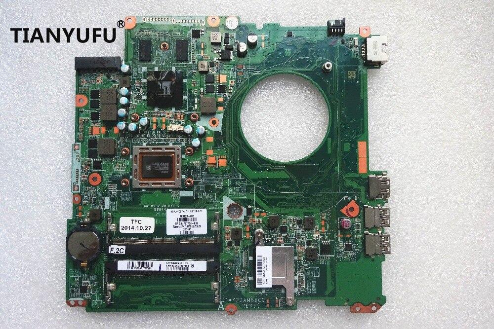 Placa base de computadora portátil Para HP pabellón 17 17-F DAY23AMB6F0 PRINCIPAL de 763428-501, 763428-001 A10-5745M CPU 260 M 2 GB motherboa
