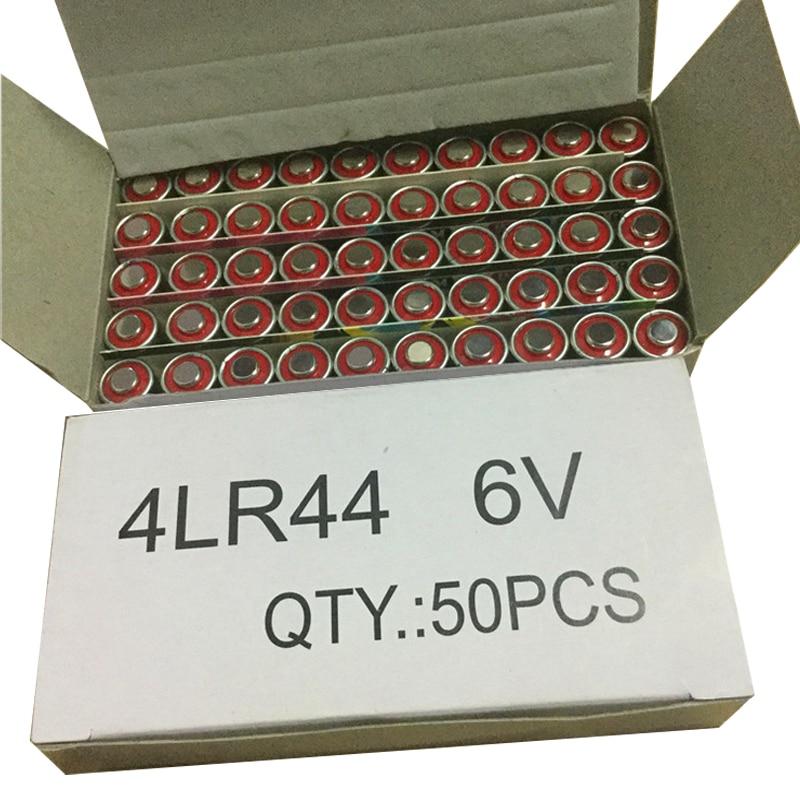 MJKAA 50 Uds 4LR44 L1325 4AG13 6V seco Batería alcalina amortiguador A544V 4034PX PX28A 544 4A76 Cámara baterías desechables