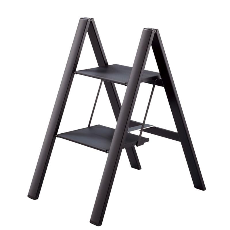 Japan Hasegawa Anti-Slip Aluminum Step Ladders Ultra-Thin Folding Household Small Wide Pedal Flower Shelf Stool SJ