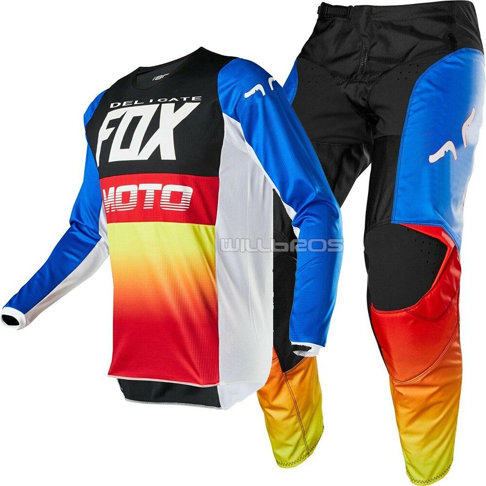 Free shipping 2020 Delicate Fox MX Racing 180 Fyce MX Offroad  Motorsport Motorcycle MTB Bike Motocross Gear Set Motorbike Suit