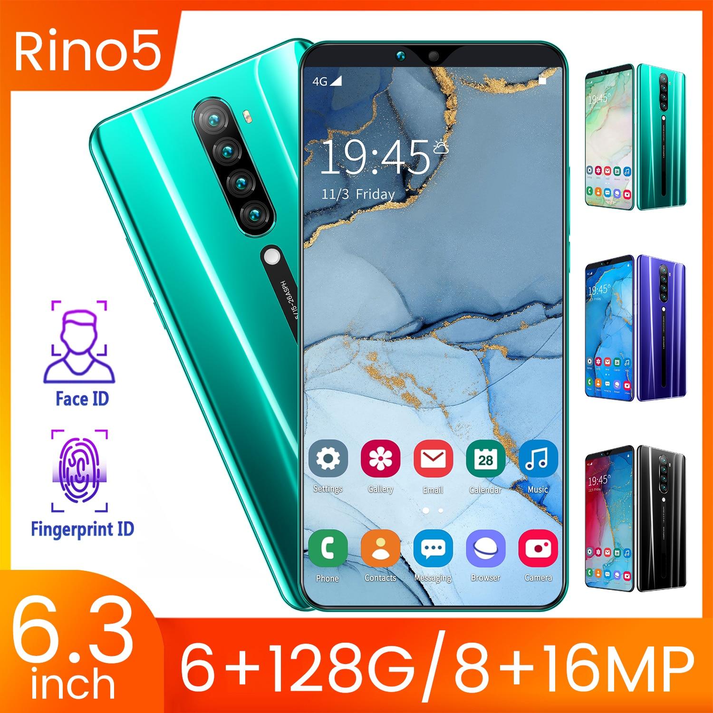 SAILF RINO 5 Android 10.0 Mobile Phone 6.3 INCH FHD+ 13MP Triple Camera 6G RAM 128GB ROM Smartphone 4G gsm Global