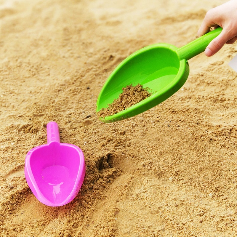 Пляжные игрушки, Детская лопата, детская игра в песок, копающий песок, пластиковая Одиночная маленькая лопата, Детские уличные игрушки