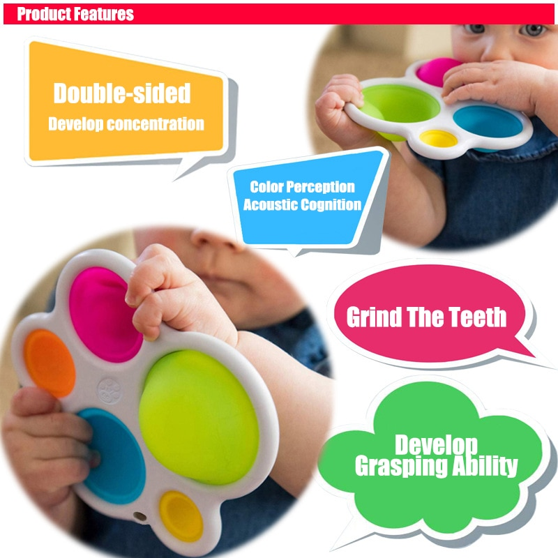 Fidget Toys Fidget Simple Dimple Fat Brain Stress Relief Hand For Kids Adults Early Educational Autism Special NeedToys enlarge